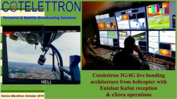 Helicopter with KaSat reception